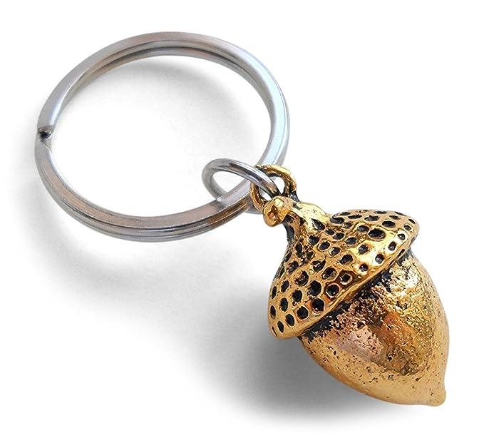 Amazon.com  Elongated Golden Acorn Keychain - Peter Pan s Kiss  Clothing e2910db5b84f