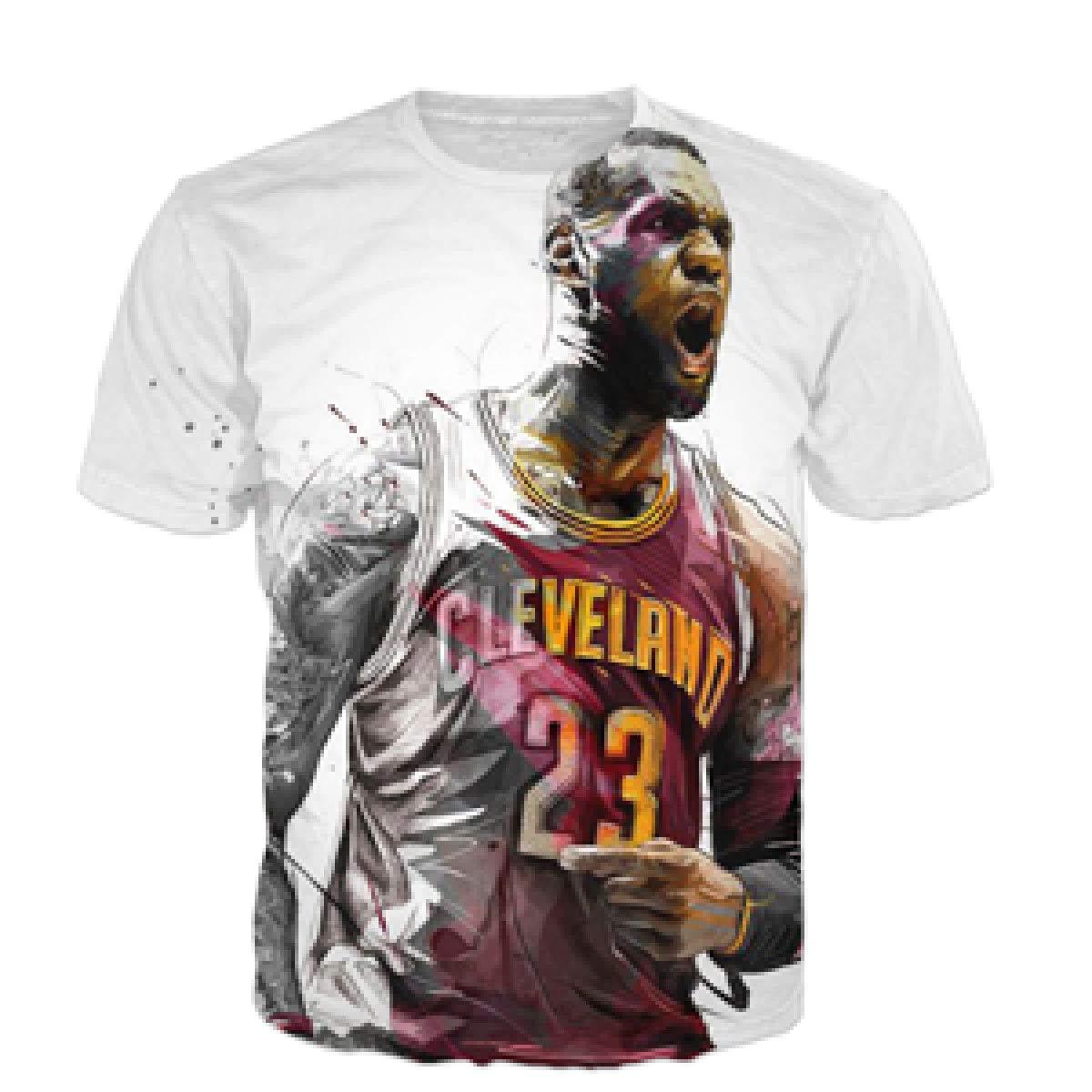 cheap for discount d2897 2deb9 Amazon.com: 3D t-Shirt Star Lebron James Print Men Women t ...