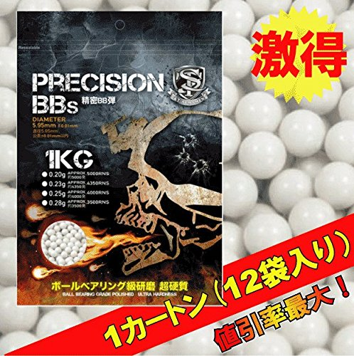 【12袋セットまとめ買い】 S&T 6mm 超精密BB弾 ABS 0.23g 約4350発 B00TLF8HRS