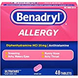 Benadryl Allergy Ultratab Tablets, 2Pack (144 Tablets Each)