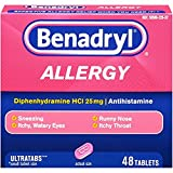 Benadryl Allergy Ultratab Tablets, 4Pack (144 Tablets Each) Vl%^kjd