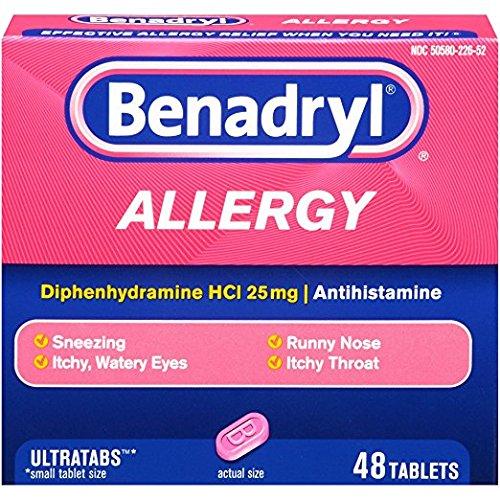 Benadryl Allergy Ultratab Tablets, 4Pack (144 Tablets Each) Vl%^kjd
