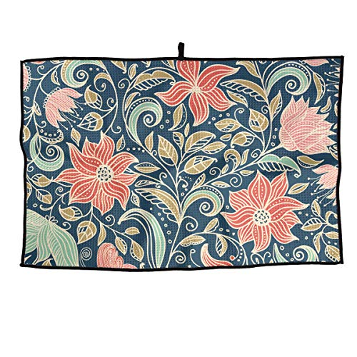 63297c4f41e83 Hhill Swater Vintage Flower Vine Personalized Golf Towel Breathable  Microfiber Golf Towel 24   15   The Convenient Towel Gym Towel