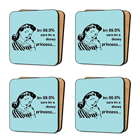E Cards Disney Princess Funny Joke Silly 4 Coaster Set Dinnerware Furniture Amazoncouk Kitchen Home