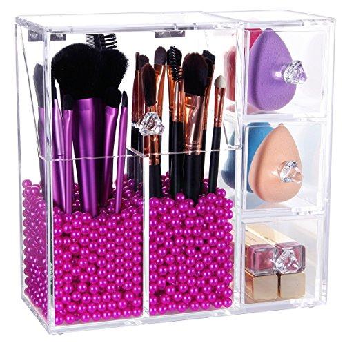 Acrylic 2 Drawers Cosmetic Organizer - 6