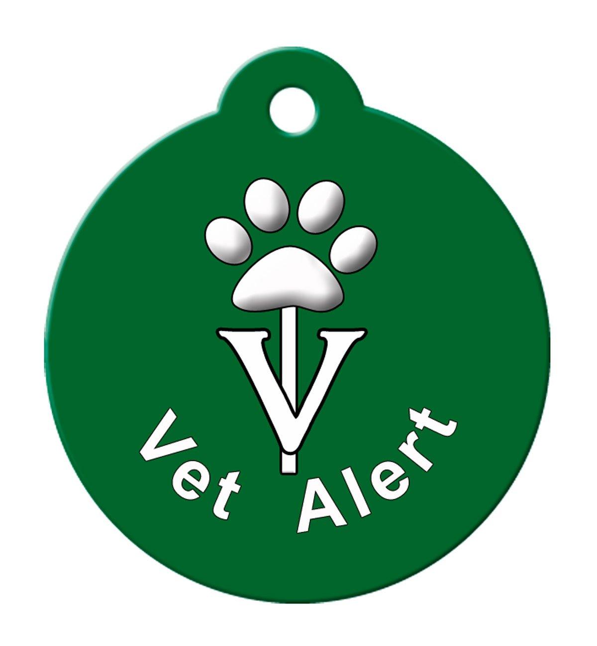 BARKCODE Vet Alert Line Caduceus QR Code Pet ID Tag, Large, Hunter Green