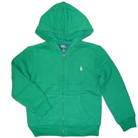 Ralph Lauren Niños sudadera chaqueta con capucha Polo Jinete Logo ...