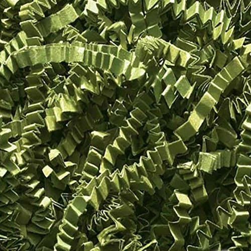 - Custom & Unique {12 Ounces} of Crinkle Cut Shredded Gift Basket Filler Paper Made From Cardstock w/ Pretty Summer Sage Tone Cool Decorative Holiday Crimped Grass Scatter Design (Green)