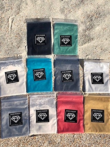 2/10 (10 COLORS) Mica Powder PURE, 2TONE and DIAMOND series Variety pigment packs (Epoxy,Paint,Color,Art) Black Diamond Pigments by CCS (Additive Pearl Paint)