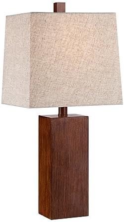 rectangular table lamp rectangular desk darryl wood finish rectangular table lamp amazoncom