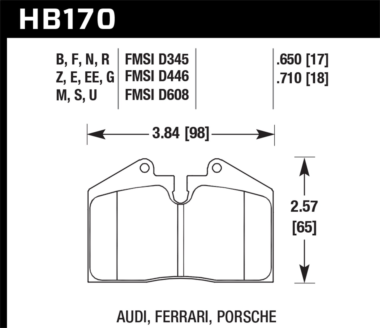 Hawk Performance HB170G.710 Disc Brake Pad