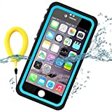 Temdan 33ft/10m Deep Floatable Waterproof Case for iPhone 6/6s(4.7inch) with Kick Stand and Float Strap--BLUE/CLEAR (Blue, 4.7inch)