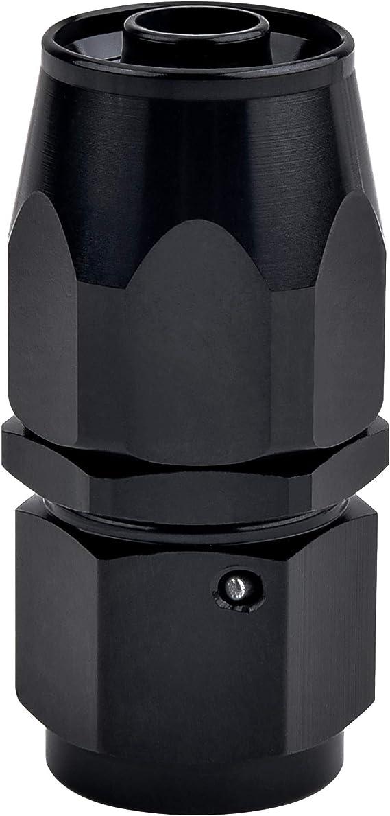 6AN 45 Degree Fittings Aluminum Swivel Hose end Black Length: 8cm // 3.15