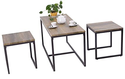Amazon.com - Heize best price Set of 3 Table Living Room ...