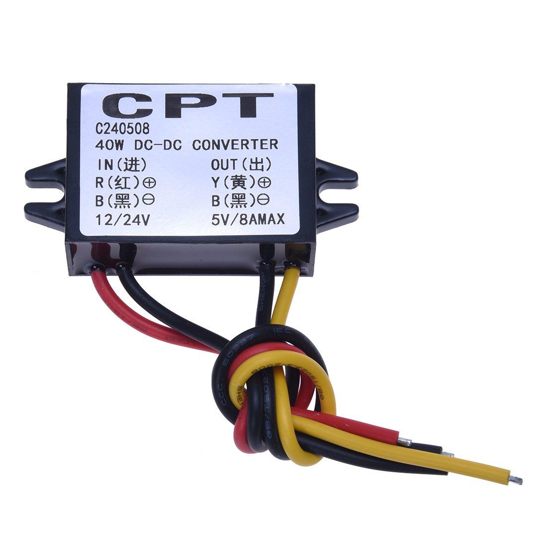 SODIAL(R) Convertisseurs electriques DC Converter Regulator 12V 24V Step down to 5V 8A Power Module DCCON-C8