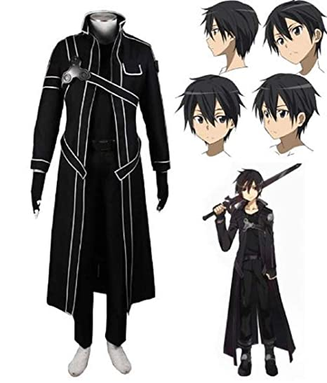 Disfraz Uniforme Sao Art Anime Kirito De Online Sword Chaqueta ftH60qf