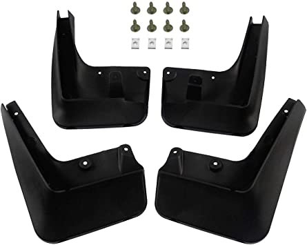 Set of 4 Front and Rear Mud Flaps Splash Guards for Hummer H3 2006-2010 YTAUTOPARTS