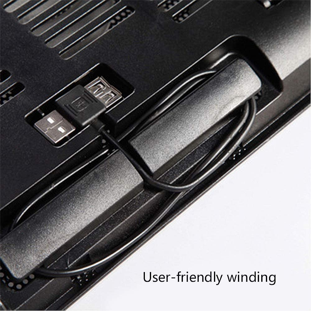 Suitable for Gamers and Offices,F Laptop Cooler with Powerful Dual Fans and Ultra-Thin Design MZZG Laptop Cooling pad
