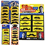Pveath 8 Set Fake Mustaches, Mexican Beard For Party Halloween Cosplay Self Adhesive