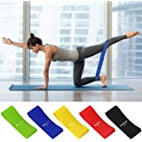 Mrt Pro Fitness Resistance Bands Set of 5 Simplify Exercise Workout Bands for Legs Arms Fit for Training Pilates Powerlifting Stretching Physical Therapy and Home Fitness with Instruction Guide