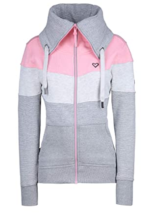 Alife and Kickin Kapuzenpullover Frauen Sarah Dot fuchsia Kapuzen-Sweater Hoodie