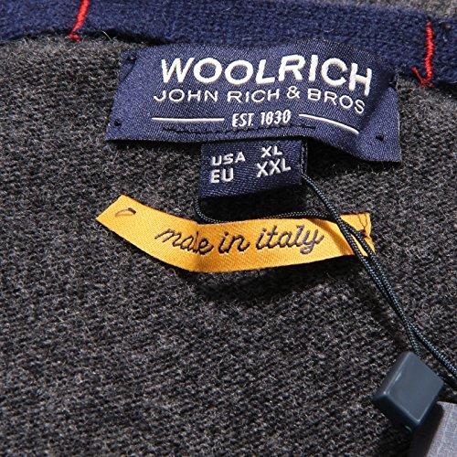 Wool neck Men Lana 1169v Grey Grigio Uomo Woolrich V Sweater Maglione BqzWpRX