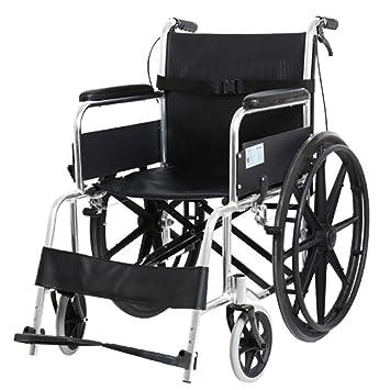 KOSHSH Silla De Ruedas De Transporte Aluminio Silla De Ruedas De Viaje con Discapacidad Silla Plegable