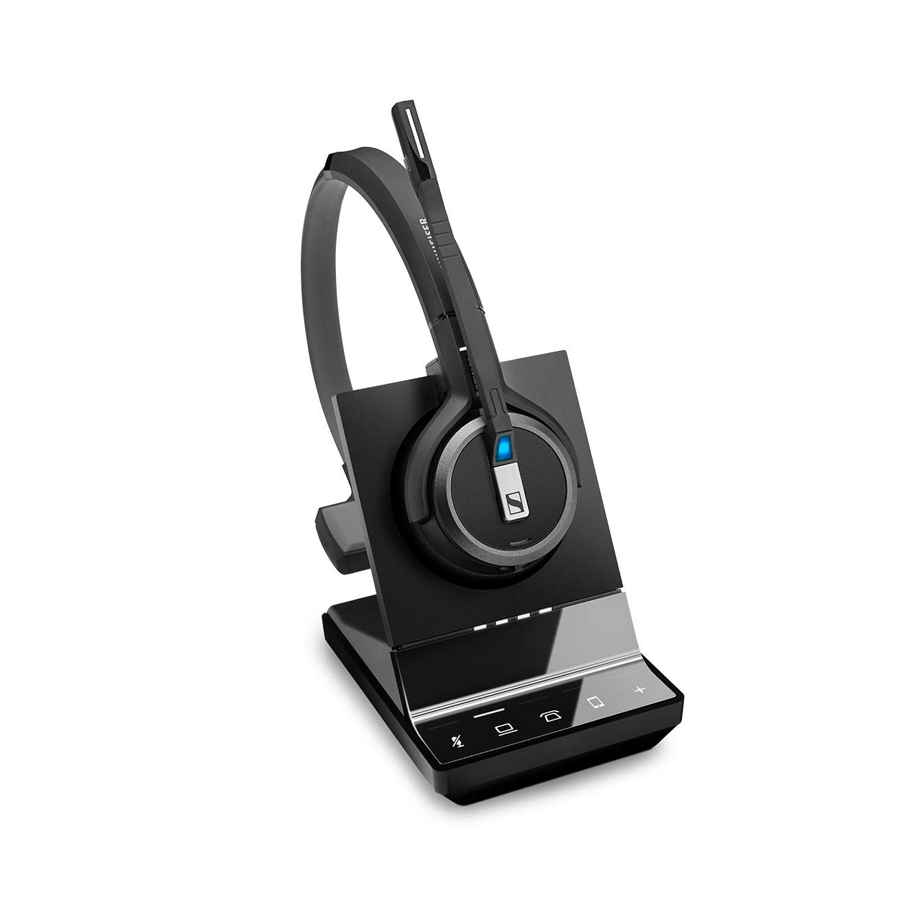 Sennheiser SDW 5036 (507020) - Single-Sided (Monaural) Wireless Dect Headset for Desk Phone Softphone/PC & Mobile Phone Connection Dual Microphone Ultra Noise Cancelling, Black by Sennheiser Enterprise Solution (Image #5)
