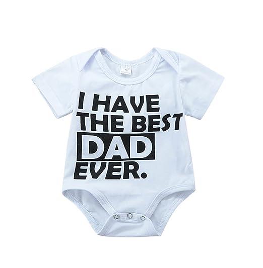 87bd5a225 Amazon.com  Babywow Unisex Infant Baby Boys Girls Best Dad Mom ...