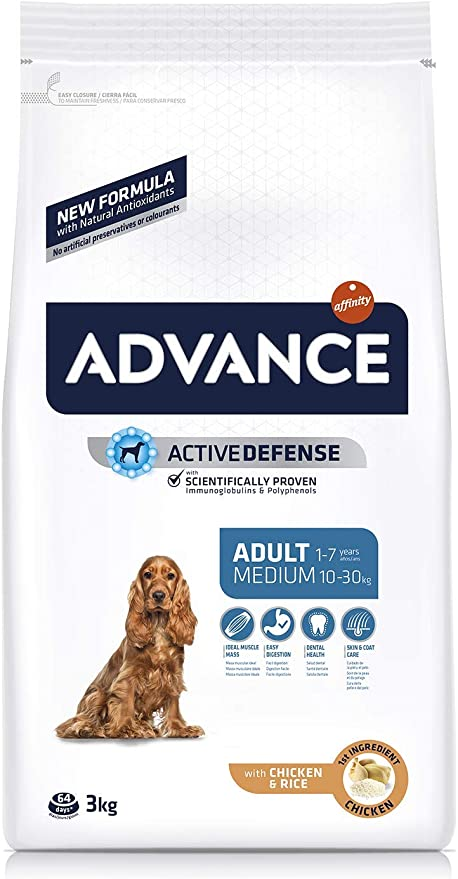 Oferta amazon: ADVANCE Pienso para Perros Medium Adult - 3kg