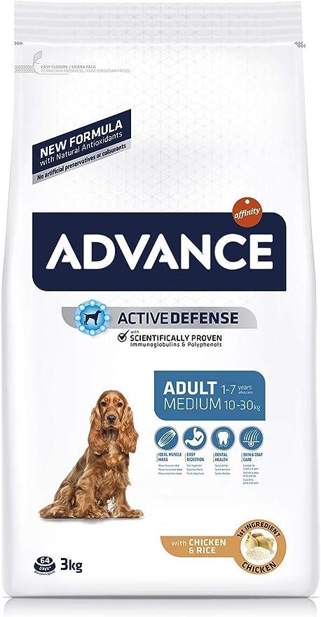 ADVANCE Adult Medium - Pienso Para Perros Adultos De Razas Medianas Con Pollo - 3 kg