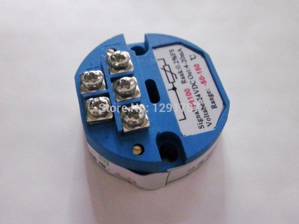 YalinGE 10pcs PT100 Temperature Transmitter Sensor -50 ~ +150C Out 4-20mA Power 24VDC