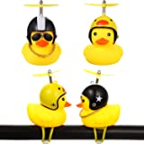 2 Pieces Kids Bike Bells Duck Bicycle Lights Bell Squeeze Horn Bicycle Bell Lovely Duck Bike Bell with LED Light, Rubber…