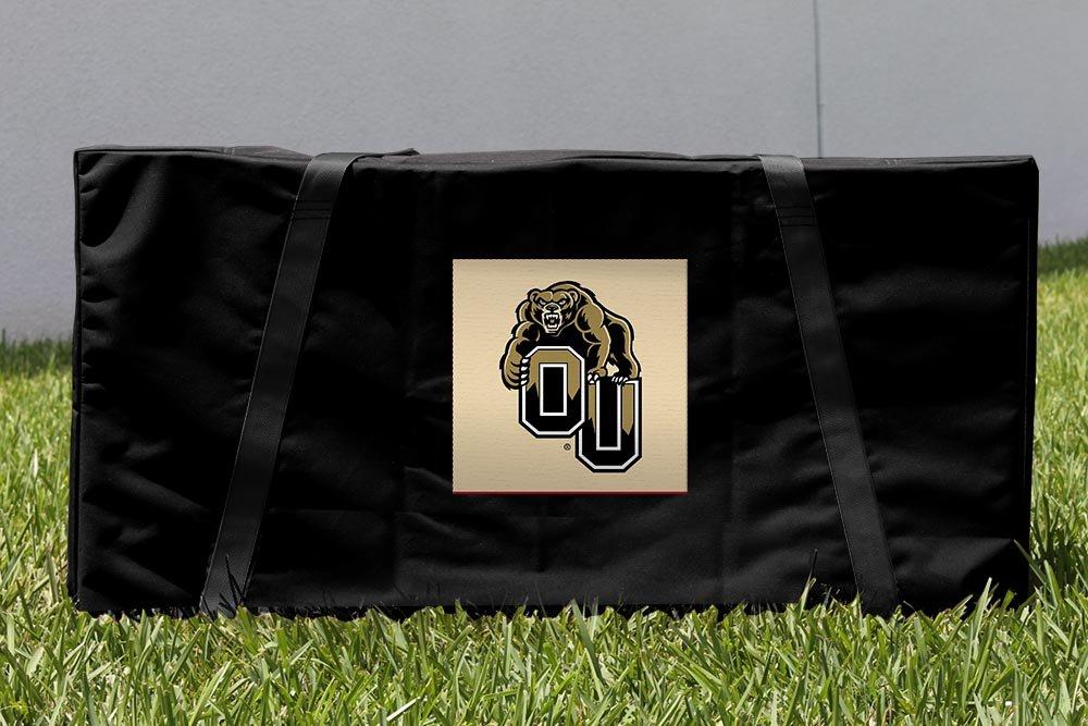 Oakland University Golden Grizzlies Cornholeストレージキャリーケース B00ESH57R2