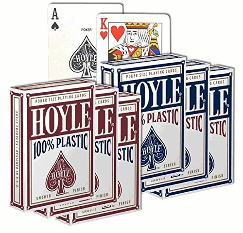 6 Decks of Hoyle 100% Plastic Playing Cards ()