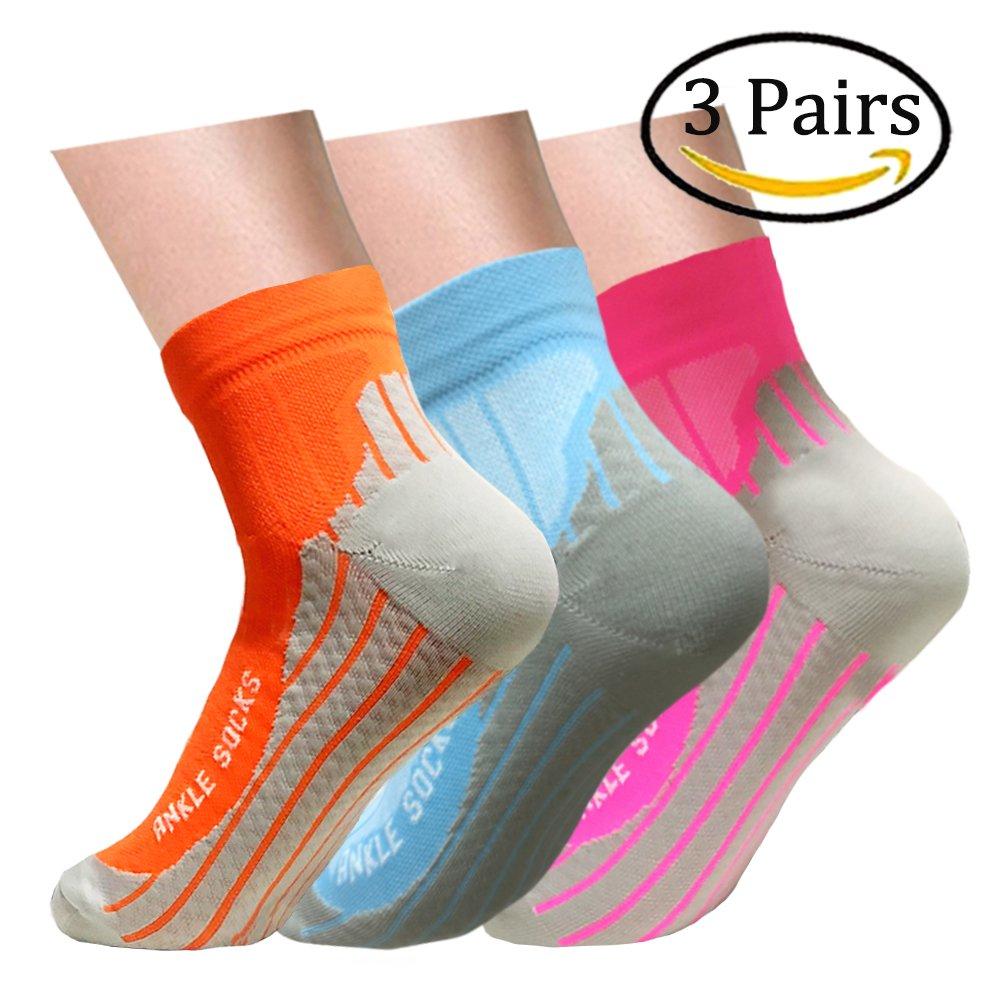 Plantar Fasciitis Support Compression Socks Women Men - Best Running Ankle Athletic Socks (S/M, Assort4)