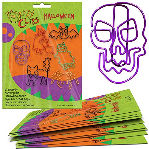 Halloween Gift Packs - 6 Big, Super-Cute Paper Clip Creatures for Party Favors, Prizes, Treats, and Fun Halloween Gifts. Package of -