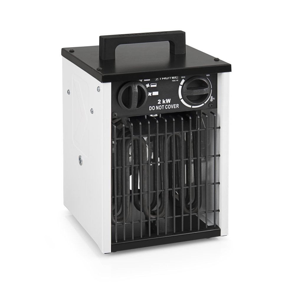 TROTEC Elektroheizer TDS 10 mit 2 kW Heizlü fter Heizgerä t Bauheizer inkl. Wandhalterung