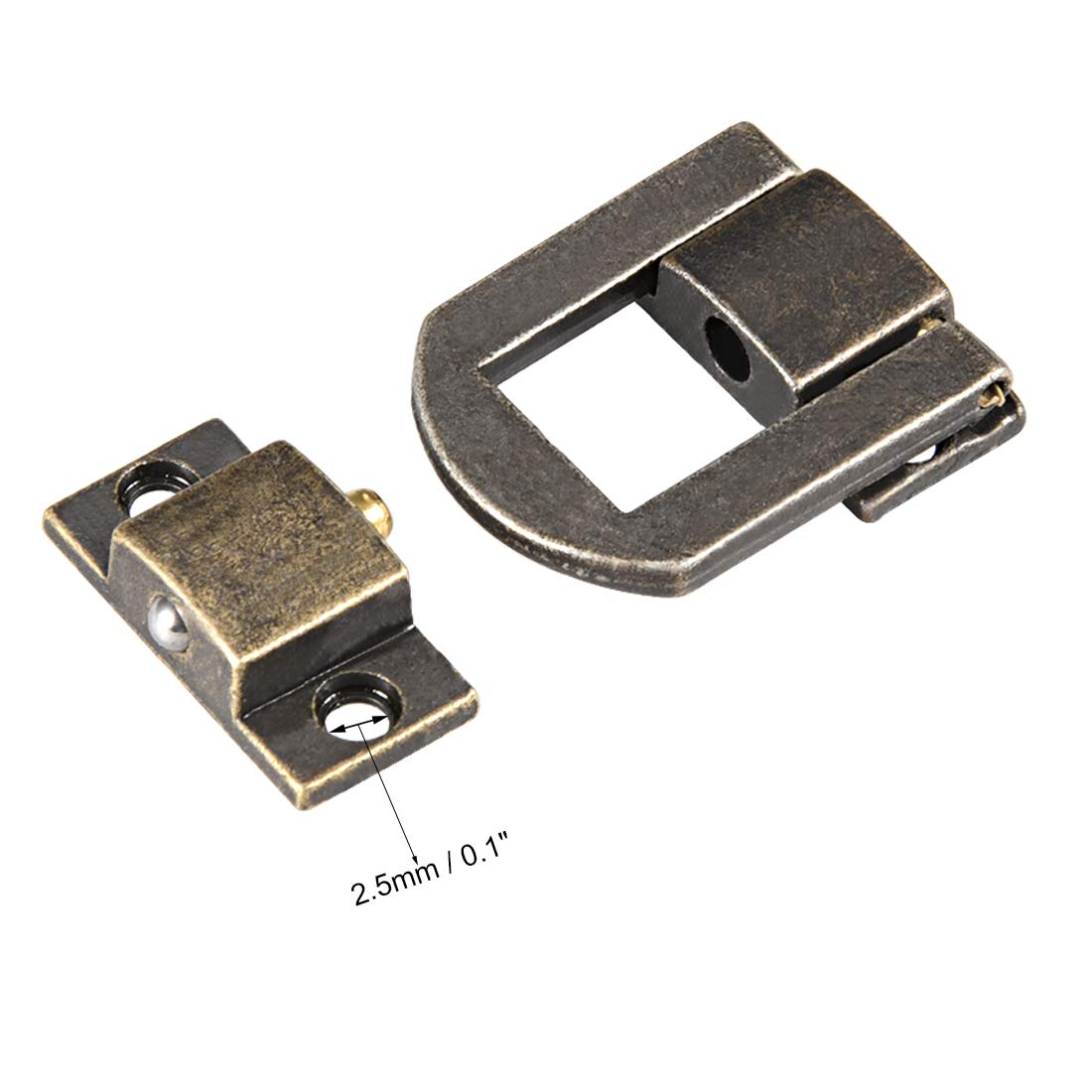 sourcing map 4stk Dekorative Haspe Schmucksbox mit Schrauben 25mm Bronzen DE de Umschaltenschloss