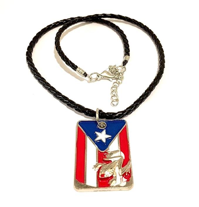 Puerto Rico flag Necklace design, Boricua, Puerto Rican