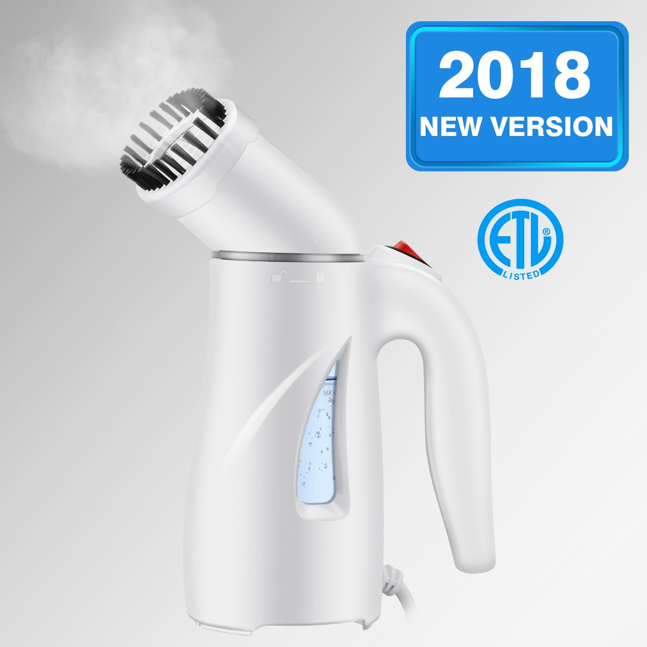 Homitt Handheld Clothes Steamer, Portable Travel Steamer for Clothes Wrinkle Remover with Automatic Shut-off and Fast Heat-up Function Safe Use for Travel,Office and Home|Mother's Gift [New Version]