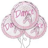 Dance Themed 18'' Round Mylar Balloon 3pk