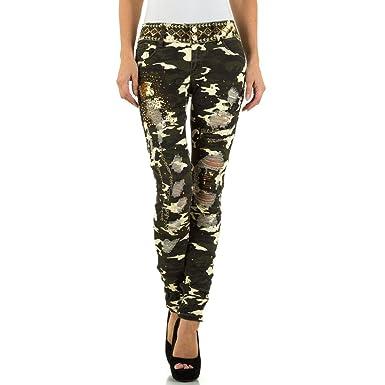 89d586c4713d2e Camouflage Low Skinny Jeans Für Damen bei Ital-Design: Amazon.de: Bekleidung