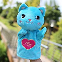 XuBa Cartoon Animal Shape Plush Early Learning Toys Hand Puppet for Kids Story Telling Birthday Happy New Year Gift for Kids