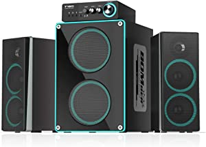 ineo Wooden 2.1 Gaming/PC Speakers with Subwoofers and Individual Control Box (W403 II)