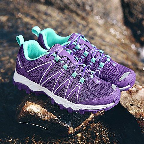 Montagna Da Sneakers Mesh Trekking All'aperto Antiscivolo Respirabile Porpora Scarpe Running Donna Uomo Xdd1q