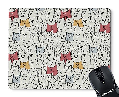 NUOCHUANG Cute Funny Cartoon cat Rectangular Non-Slip Natural Rubber Mouse pad