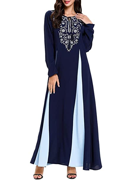 Maxikleid Strandkleid Sommerkleid Kaftan Boho Jellabiya Kimono Einheitsgröße
