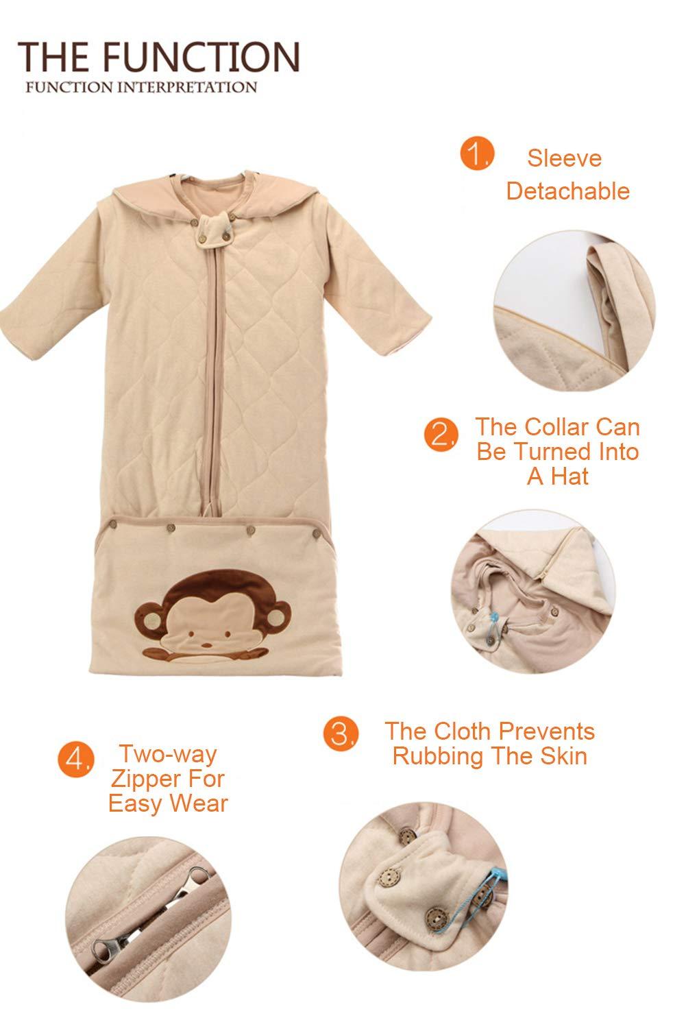 BabyFat Sacos de Dormir para Bebé Otoño/Invierno 2.5 Tog - Spring & Otoño - Beige Label 120: Amazon.es: Bebé