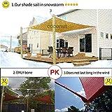 COCONUT Rectangle Sun Sail Canopy 8 X 10 Ft Heavy
